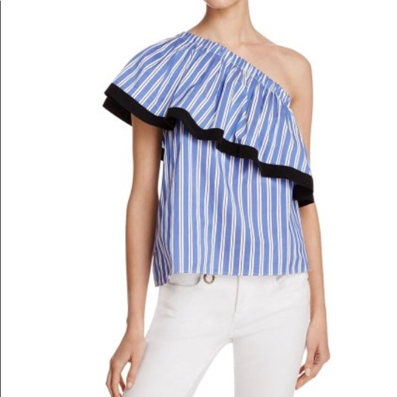 075b76c8fe1 Milly Tops   Nwt One Shoulder Striped Top   Poshmark